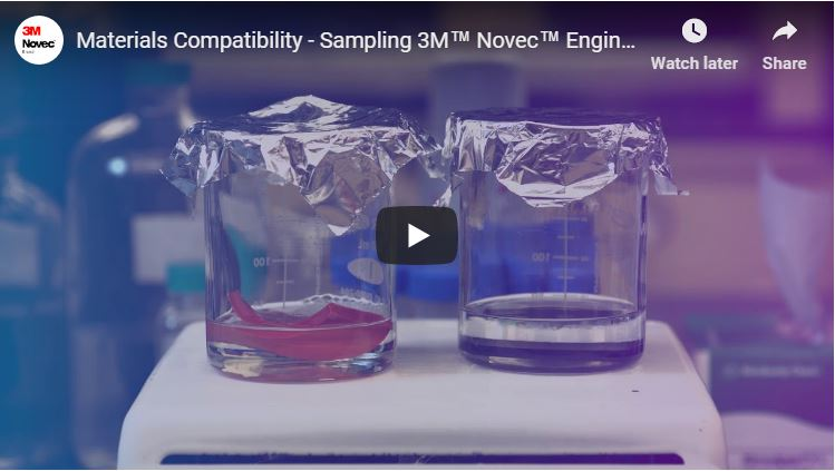 Materials Compatibility - Sampling 3M™ Novec™ Engineered Fluids