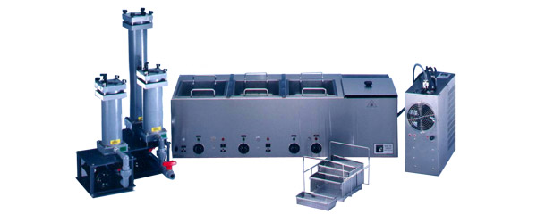 Multi-tank benchtop ultrasonic cleaner system