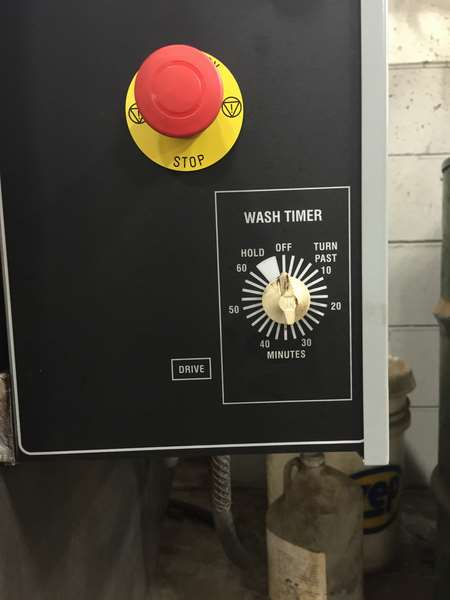 Department of transportation spray parts washer - timer