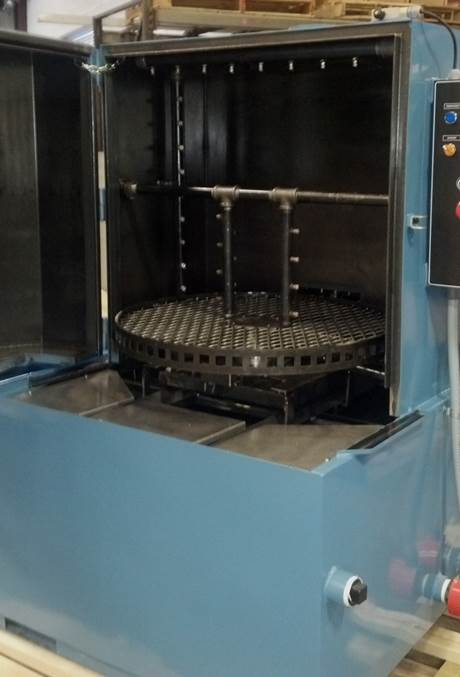 Pelletizer Die Cleaning Spray Cabinet Parts Washer Inside Spray Manifolds