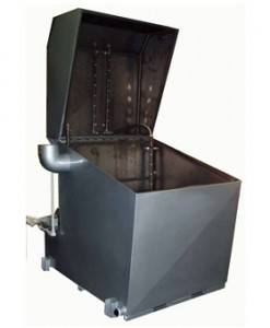 Top Loading Spray Cabinet Parts Washer Open