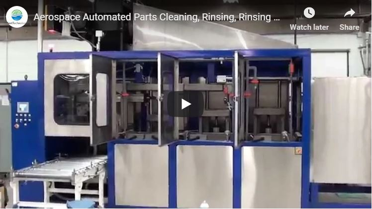 Aerospace Automated Parts Cleaning, Rinsing, Rinsing and Conveyor Dryer System