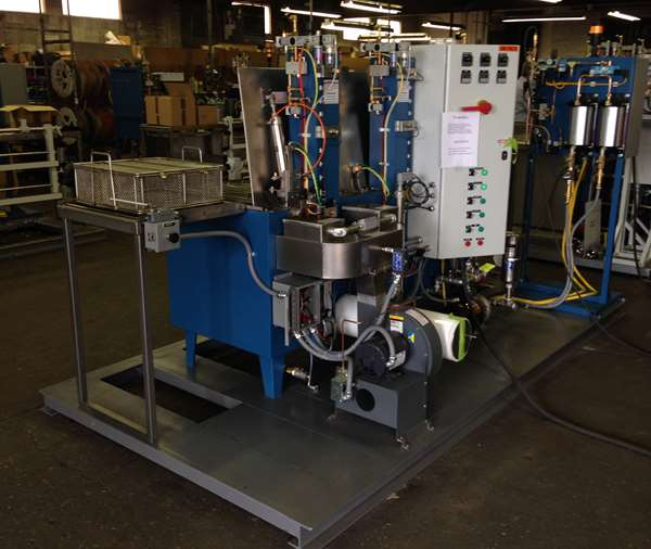 Automated immersion parts washer - electrical controls