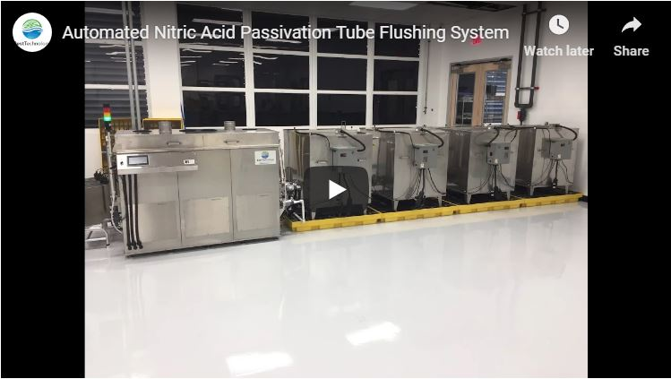 Automated Nitric Acid Passivation Tube Flushing System