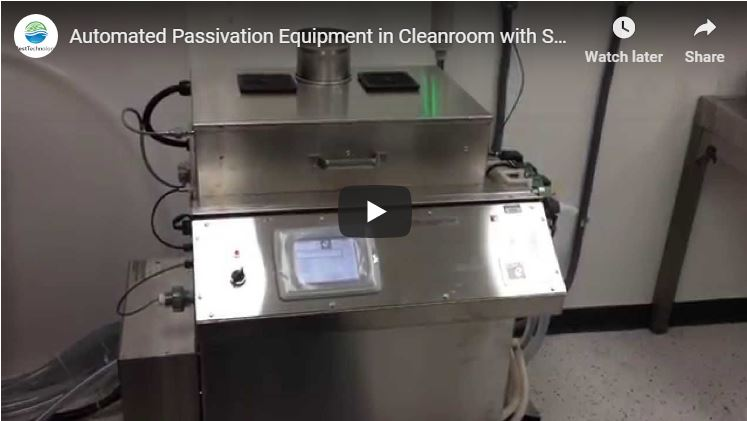 Automated Passivation Equipment in Cleanroom with Solution Storage Tanks Outside Cleanroom