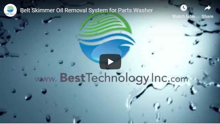 Belt Skimmer Oil Removal System for Parts Washer