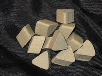 ceramic media - pyramids