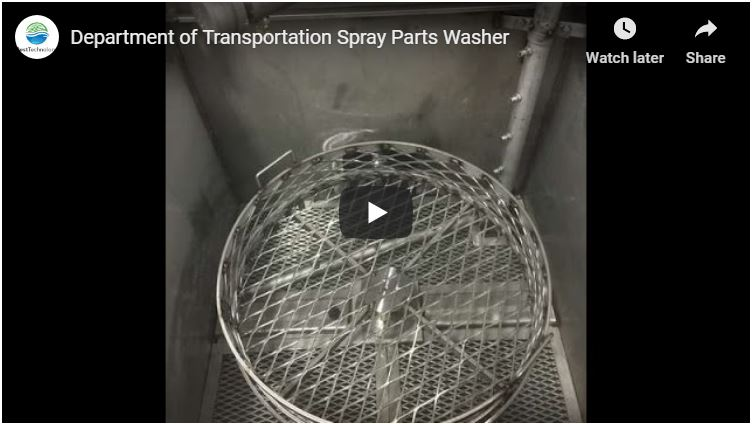 Department of Transportation Spray Parts Washer