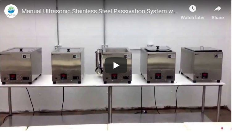Manual Ultrasonic Stainless Steel Passivation System with Nitric and Ctiric Acid