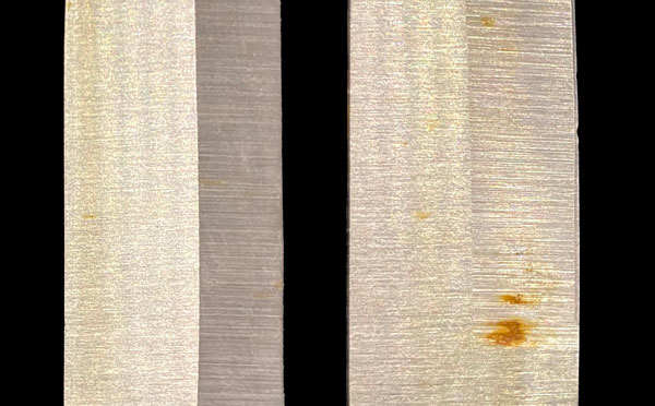 Passivated stainless steel resists rust