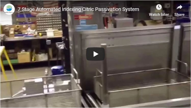 7 Stage Automated Indexing Citric Passivation System