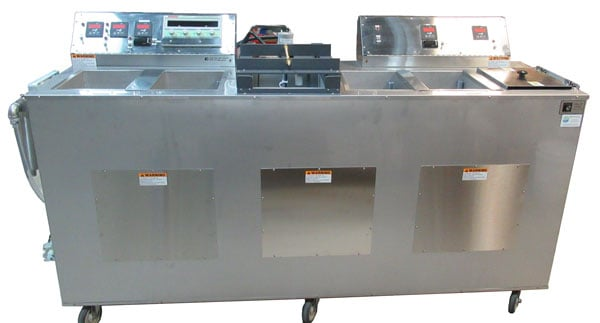Ultrasonic electropolishing wet bench / console