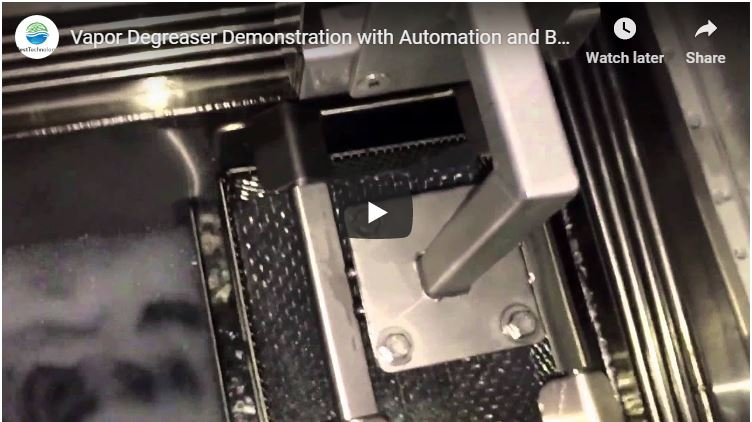 Vapor Degreaser Demonstration with Automation and Basket